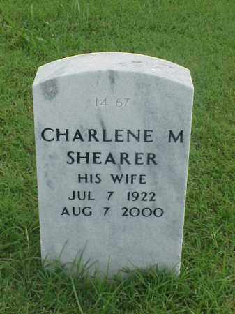 SHEARER, CHARLENE M - Pulaski County, Arkansas | CHARLENE M SHEARER - Arkansas Gravestone Photos