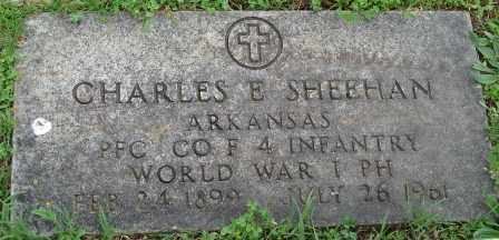 SHEEHAN (VETERAN WWI), CHARLES E - Pulaski County, Arkansas | CHARLES E SHEEHAN (VETERAN WWI) - Arkansas Gravestone Photos