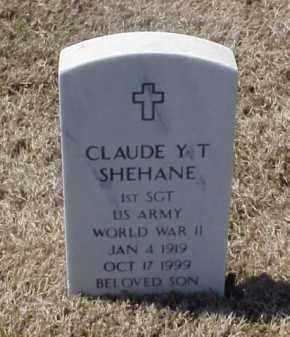 SHEHANE (VETERAN WWII), CLAUDE Y T - Pulaski County, Arkansas | CLAUDE Y T SHEHANE (VETERAN WWII) - Arkansas Gravestone Photos