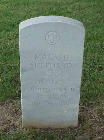 SHEPHERD (VETERAN WWII), MACK D - Pulaski County, Arkansas   MACK D SHEPHERD (VETERAN WWII) - Arkansas Gravestone Photos
