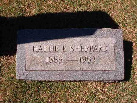SHEPPARD, HATTIE E - Pulaski County, Arkansas   HATTIE E SHEPPARD - Arkansas Gravestone Photos
