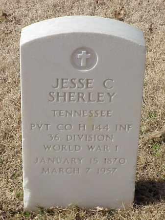SHERLEY (VETERAN WWI), JESSE C - Pulaski County, Arkansas | JESSE C SHERLEY (VETERAN WWI) - Arkansas Gravestone Photos