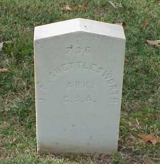 SHETTLEWORTH (VETERAN CSA), J P - Pulaski County, Arkansas | J P SHETTLEWORTH (VETERAN CSA) - Arkansas Gravestone Photos