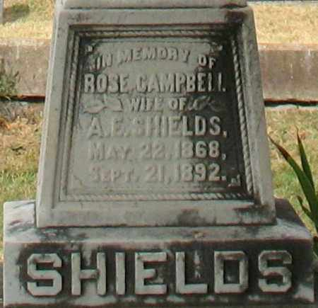 CAMPBELL SHIELDS, ROSE (CLOSEUP) - Pulaski County, Arkansas | ROSE (CLOSEUP) CAMPBELL SHIELDS - Arkansas Gravestone Photos