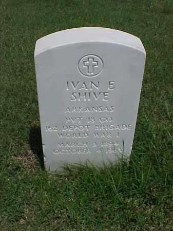 SHIVE (VETERAN  WWI), IVAN E - Pulaski County, Arkansas | IVAN E SHIVE (VETERAN  WWI) - Arkansas Gravestone Photos