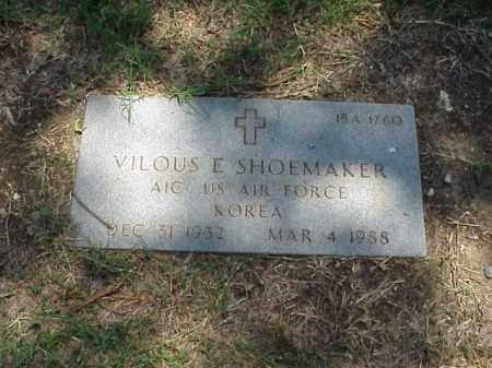 SHOEMAKER (VETERAN KOR), VILOUS E - Pulaski County, Arkansas   VILOUS E SHOEMAKER (VETERAN KOR) - Arkansas Gravestone Photos