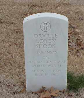 SHOOK  (VETERAN WWII), ORVILLE LOREN - Pulaski County, Arkansas   ORVILLE LOREN SHOOK  (VETERAN WWII) - Arkansas Gravestone Photos
