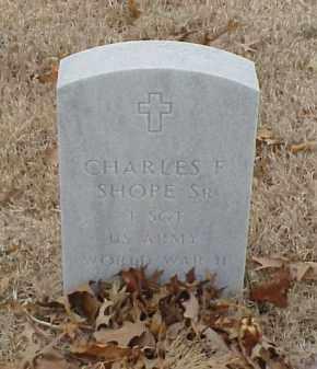 SHOPE, SR (VETERAN WWII), CHARLES F - Pulaski County, Arkansas   CHARLES F SHOPE, SR (VETERAN WWII) - Arkansas Gravestone Photos