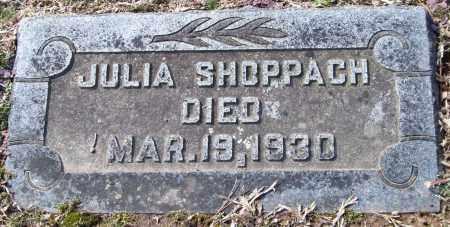 SHOPPACH, JULIA - Pulaski County, Arkansas | JULIA SHOPPACH - Arkansas Gravestone Photos