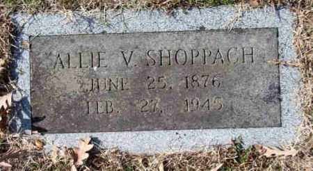 "VANCE SHOPPAH, ALMYRA MARTIN ""ALLIE"" - Pulaski County, Arkansas 