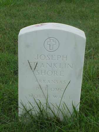 SHORE (VETERAN WWI), JOSEPH FRANKLIN - Pulaski County, Arkansas | JOSEPH FRANKLIN SHORE (VETERAN WWI) - Arkansas Gravestone Photos