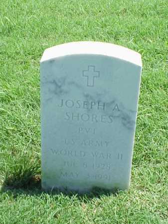 SHORES (VETERAN WWII), JOSEPH A - Pulaski County, Arkansas   JOSEPH A SHORES (VETERAN WWII) - Arkansas Gravestone Photos