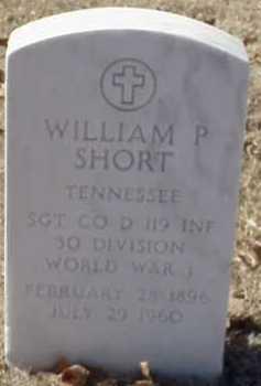 SHORT  (VETERAN WWI), WILLIAM P - Pulaski County, Arkansas   WILLIAM P SHORT  (VETERAN WWI) - Arkansas Gravestone Photos