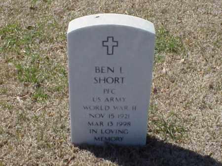 SHORT (VETERAN WWII), BEN L - Pulaski County, Arkansas | BEN L SHORT (VETERAN WWII) - Arkansas Gravestone Photos
