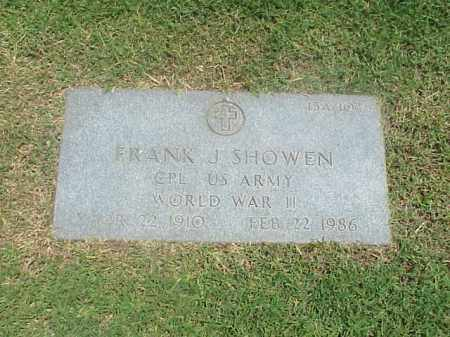 SHOWEN (VETERAN WWII), FRANK J - Pulaski County, Arkansas   FRANK J SHOWEN (VETERAN WWII) - Arkansas Gravestone Photos