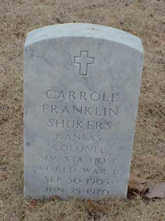 SHUKERS (VETERAN WWII), CARROLL FRANKLIN - Pulaski County, Arkansas | CARROLL FRANKLIN SHUKERS (VETERAN WWII) - Arkansas Gravestone Photos