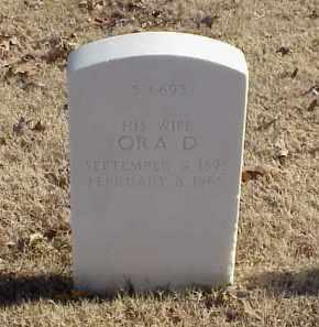 SHULER, ORA D - Pulaski County, Arkansas | ORA D SHULER - Arkansas Gravestone Photos