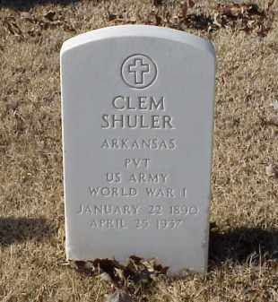 SHULER (VETERAN WWI), CLEM - Pulaski County, Arkansas | CLEM SHULER (VETERAN WWI) - Arkansas Gravestone Photos