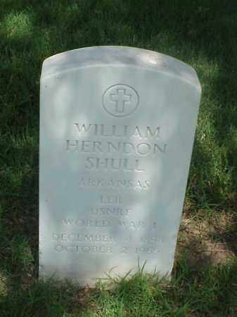 SHULL (VETERAN WWI), WILLIAM HERNDON - Pulaski County, Arkansas | WILLIAM HERNDON SHULL (VETERAN WWI) - Arkansas Gravestone Photos