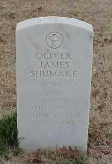 SHUMAKE (VETERAN WWI), OLIVER JAMES - Pulaski County, Arkansas | OLIVER JAMES SHUMAKE (VETERAN WWI) - Arkansas Gravestone Photos
