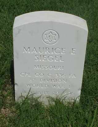 SIEGEL (VETERAN WWI), MAURICE E - Pulaski County, Arkansas | MAURICE E SIEGEL (VETERAN WWI) - Arkansas Gravestone Photos