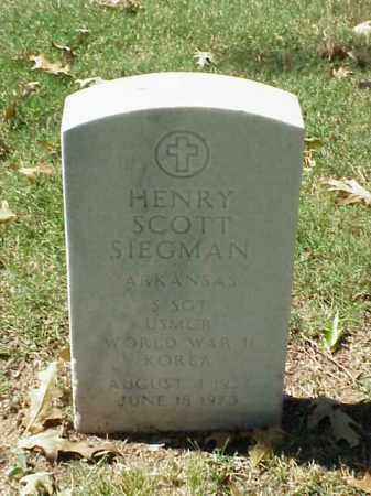 SIEGMAN (VETERAN 2 WARS), HENRY SCOTT - Pulaski County, Arkansas | HENRY SCOTT SIEGMAN (VETERAN 2 WARS) - Arkansas Gravestone Photos