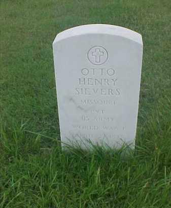 SIEVERS (VETERAN WWI), OTTO HENRY - Pulaski County, Arkansas | OTTO HENRY SIEVERS (VETERAN WWI) - Arkansas Gravestone Photos