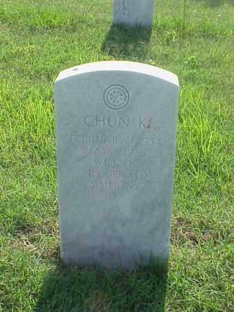 SIMMONS, CHUN K - Pulaski County, Arkansas | CHUN K SIMMONS - Arkansas Gravestone Photos