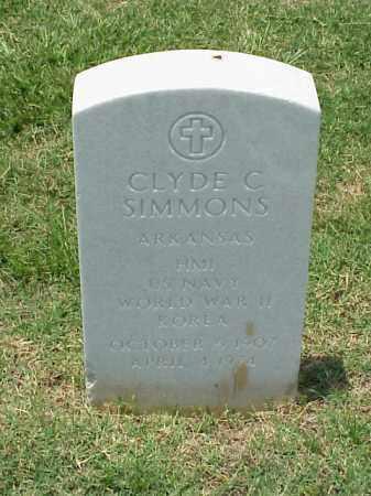 SIMMONS (VETERAN 2 WARS), CLYDE C - Pulaski County, Arkansas | CLYDE C SIMMONS (VETERAN 2 WARS) - Arkansas Gravestone Photos