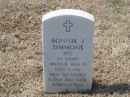 SIMMONS (VETERAN), BONNIE J - Pulaski County, Arkansas   BONNIE J SIMMONS (VETERAN) - Arkansas Gravestone Photos