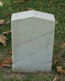 SIMMONS (VETERAN CSA), J E - Pulaski County, Arkansas | J E SIMMONS (VETERAN CSA) - Arkansas Gravestone Photos