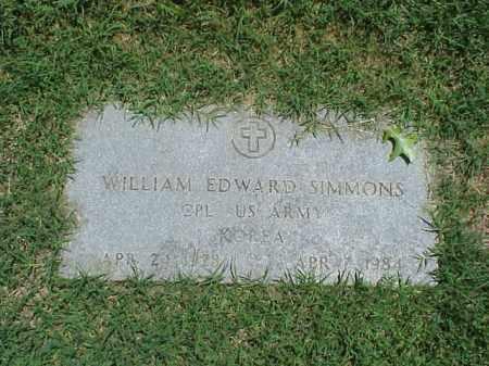SIMMONS (VETERAN KOR), WILLIAM EDWARD - Pulaski County, Arkansas   WILLIAM EDWARD SIMMONS (VETERAN KOR) - Arkansas Gravestone Photos