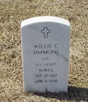 SIMMONS (VETERAN KOR), WILLIE C - Pulaski County, Arkansas   WILLIE C SIMMONS (VETERAN KOR) - Arkansas Gravestone Photos