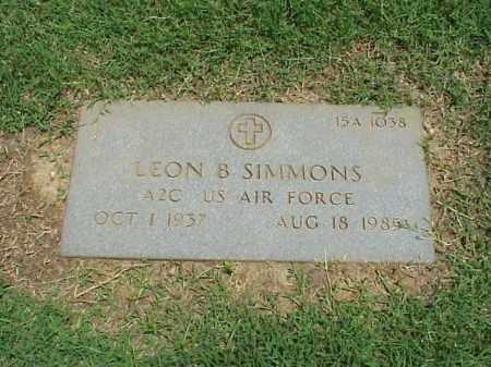 SIMMONS (VETERAN), LEON - Pulaski County, Arkansas | LEON SIMMONS (VETERAN) - Arkansas Gravestone Photos