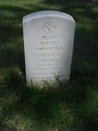 SIMMONS (VETERAN WWI), JEAN EARL - Pulaski County, Arkansas   JEAN EARL SIMMONS (VETERAN WWI) - Arkansas Gravestone Photos