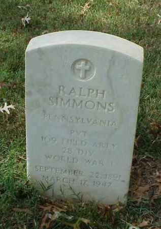 SIMMONS (VETERAN WWI), RALPH - Pulaski County, Arkansas | RALPH SIMMONS (VETERAN WWI) - Arkansas Gravestone Photos