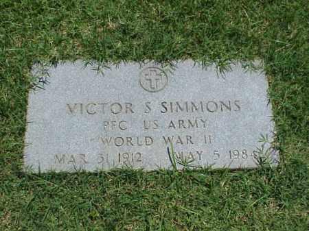 SIMMONS (VETERAN WWII), VICTOR S - Pulaski County, Arkansas | VICTOR S SIMMONS (VETERAN WWII) - Arkansas Gravestone Photos