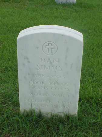 SIMMS (VETERAN WWI), DAN - Pulaski County, Arkansas | DAN SIMMS (VETERAN WWI) - Arkansas Gravestone Photos