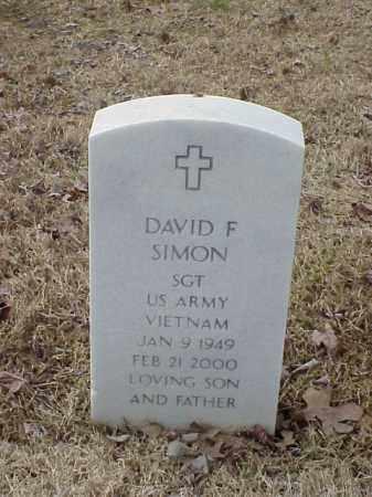 SIMON  (VETERAN VIET), DAVID F - Pulaski County, Arkansas   DAVID F SIMON  (VETERAN VIET) - Arkansas Gravestone Photos