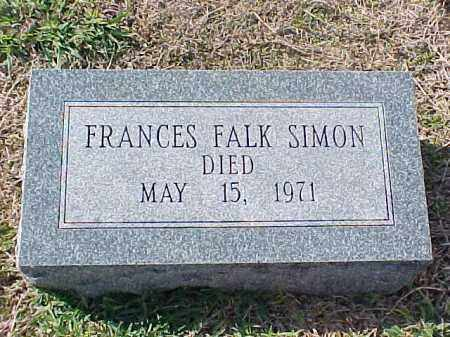 FALK SIMON, FRANCES - Pulaski County, Arkansas | FRANCES FALK SIMON - Arkansas Gravestone Photos