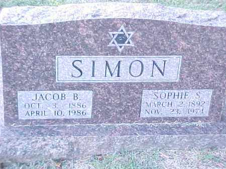 SIMON, JACOB B - Pulaski County, Arkansas | JACOB B SIMON - Arkansas Gravestone Photos