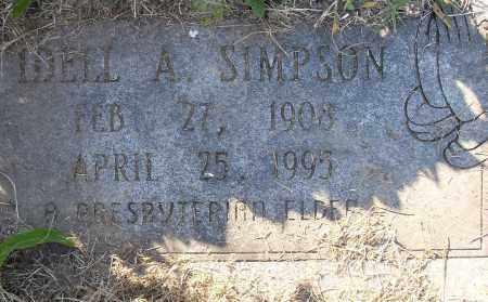SIMPSON, IDELL A - Pulaski County, Arkansas | IDELL A SIMPSON - Arkansas Gravestone Photos