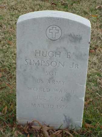 SIMPSON, JR (VETERAN WWII), HUGH E - Pulaski County, Arkansas | HUGH E SIMPSON, JR (VETERAN WWII) - Arkansas Gravestone Photos