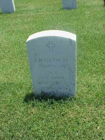 SIMPSON (VETERAN 2 WARS), JOSEPH H - Pulaski County, Arkansas   JOSEPH H SIMPSON (VETERAN 2 WARS) - Arkansas Gravestone Photos