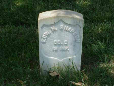 SIMPSON (VETERAN UNION), EDWARD H - Pulaski County, Arkansas | EDWARD H SIMPSON (VETERAN UNION) - Arkansas Gravestone Photos