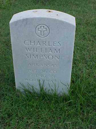 SIMPSON (VETERAN WWI), CHARLES WILLIAM - Pulaski County, Arkansas | CHARLES WILLIAM SIMPSON (VETERAN WWI) - Arkansas Gravestone Photos