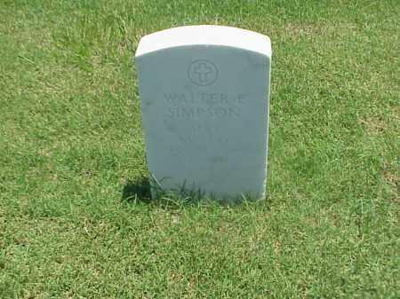 SIMPSON (VETERAN WWI), WALTER E - Pulaski County, Arkansas | WALTER E SIMPSON (VETERAN WWI) - Arkansas Gravestone Photos