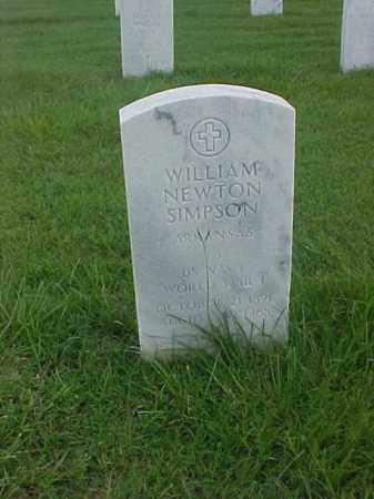 SIMPSON (VETERAN WWI), WILLIAM NEWTON - Pulaski County, Arkansas   WILLIAM NEWTON SIMPSON (VETERAN WWI) - Arkansas Gravestone Photos