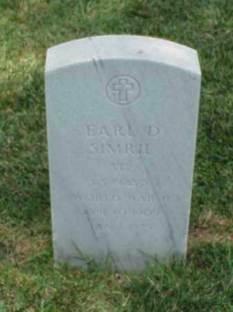 SIMRIL (VETERAN WWII), EARL D - Pulaski County, Arkansas | EARL D SIMRIL (VETERAN WWII) - Arkansas Gravestone Photos