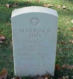 SIMS (VETERAN WWI), MARION B - Pulaski County, Arkansas   MARION B SIMS (VETERAN WWI) - Arkansas Gravestone Photos